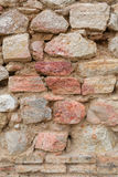 Natural old stone wall texture ancient building pattern Stock Photos