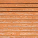 Natural old wood fence planks, wooden close board texture, overlapping light reddish brown closeboard terracotta background Stock Photos