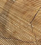 Natural Old Wood Grain Log Square Frame Texture Close-Up Stock Images