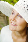 Natural older beauty Stock Photos