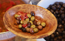 Natural olives for sale Stock Photos