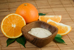 Natural orange Face cream Stock Photography