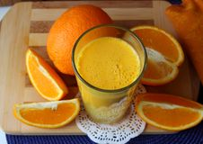 Natural orange juice Royalty Free Stock Image