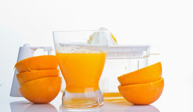 Natural orange juice Stock Image