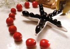 Natural Organic black olives stock photo