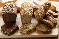 Natural organic bread made from whole wheat flour Stock Photography
