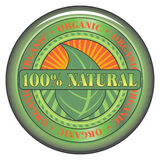 Natural Organic Button Stock Photography