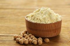 Natural organic chick pea flour Stock Image