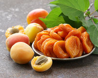 Natural organic dried apricots Stock Photos
