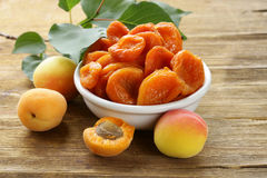 Natural organic dried apricots Royalty Free Stock Images