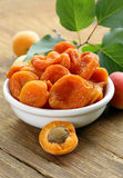 Natural organic dried apricots Stock Image