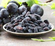 Natural organic dried grapes raisins Stock Photo