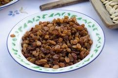 Natural organic dried grapes raisins, rustic still life Stock Photo
