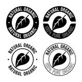 Natural organic emblem. Vector illustration Royalty Free Stock Images