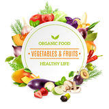 Natural Organic Food Background Stock Photos