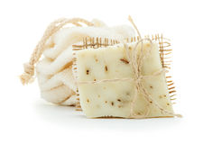 Natural organic handmade soaps, cleansers shower Stock Photo