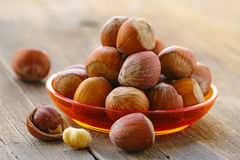 Natural Organic Hazelnuts In A Bowl