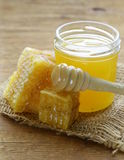 Natural organic honey in the comb Stock Photography