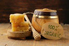 Natural organic honey in the comb Royalty Free Stock Photos