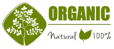 A natural organic label Stock Photography