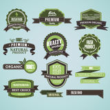 Natural organic label Royalty Free Stock Images