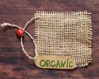 Natural organic label Stock Photography