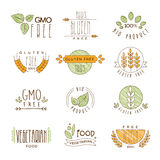 Natural Organic Labels and Icons, Vector Royalty Free Stock Photography