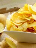 Natural organic potato chips Royalty Free Stock Photography