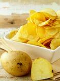 Natural organic potato chips Royalty Free Stock Images
