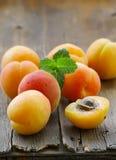 Natural organic ripe apricots Royalty Free Stock Photography