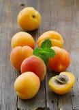 Natural organic ripe apricots Royalty Free Stock Photo
