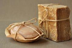 Natural organic soap bars Stock Image