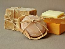 Natural organic soap bars Royalty Free Stock Image