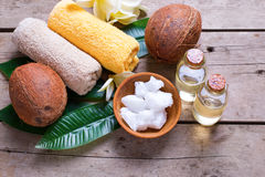 Natural organic spa products. Royalty Free Stock Image