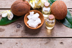 Natural organic spa products. Royalty Free Stock Images