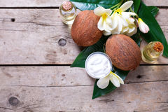 Natural organic spa products. Royalty Free Stock Photography
