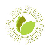 Natural organic stevia logo. Healthy product label vector Illustration Stock Photography