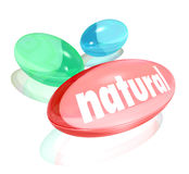 Natural Organic Supplements Vitamins Healthy Life Improvement Stock Image