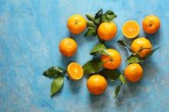 Natural organic tangerine. Royalty Free Stock Images
