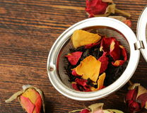 Natural organic tea from dry roses Stock Photo