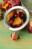Natural organic tea from dry roses Stock Images