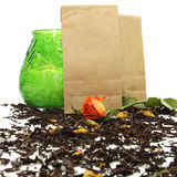 Natural organic tea with rose Royalty Free Stock Images