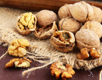 Natural organic walnuts Stock Photos