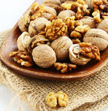 Natural organic walnuts Royalty Free Stock Images