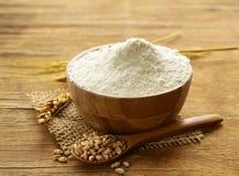 Natural organic wheat flour. Stock Photo