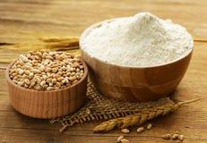 Natural organic wheat flour. Royalty Free Stock Photo