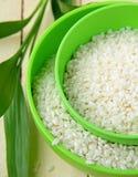 Natural organic white rice in bowl Royalty Free Stock Photo