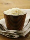 Natural organic white rice in bowl Royalty Free Stock Photos