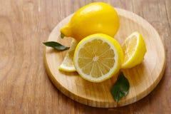 Natural organic yellow lemon Stock Photos