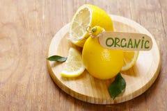 Natural organic yellow lemon Stock Image